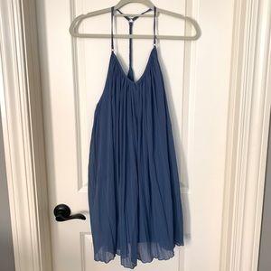 abercrombie & fitch blue flowy dress